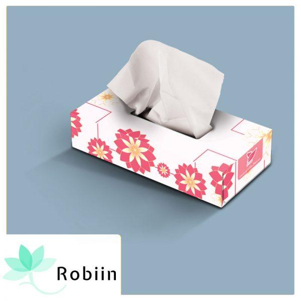 دستمال کاغذی جعبه ای روبین طرح شاد 1