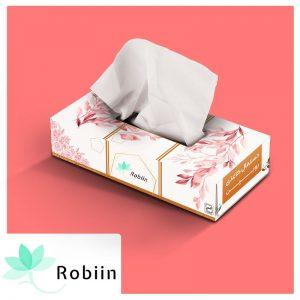دستمال کاغذی جعبه ای روبین طرح آرام